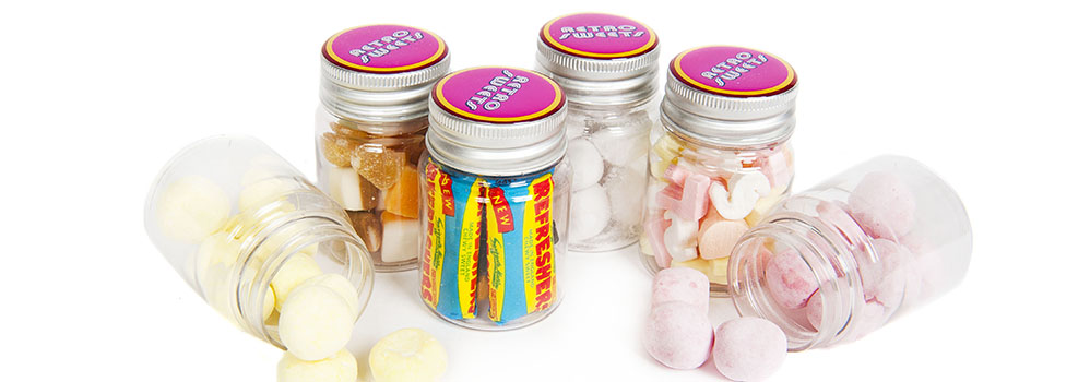 Retro Sweets Mini Promotional Jars